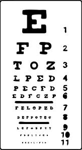 Visustafel beim Augenarzt